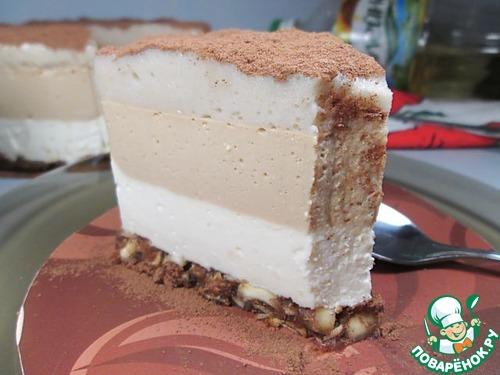 """Торт-суфле """"Кофе Латте"""" рецепт приготовления с фотографиями готовим #13"""