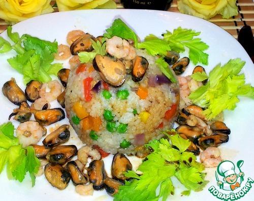 Рис с морепродуктами рецепт с фото пошагово как готовить #11
