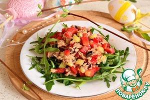 салат из тунца консервированного и руколы рецепт