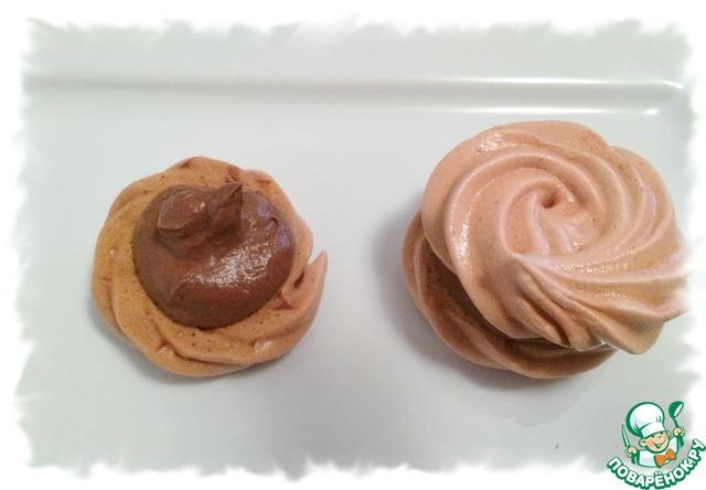Как готовить Малиновые меренги с шоколадно-малиновой прослойкой простой рецепт приготовления с фотографиями #7