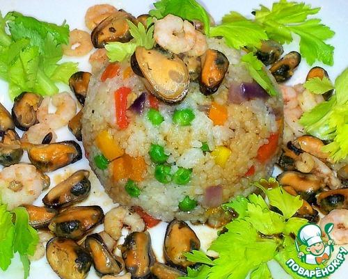 Рис с морепродуктами рецепт с фото пошагово как готовить #12