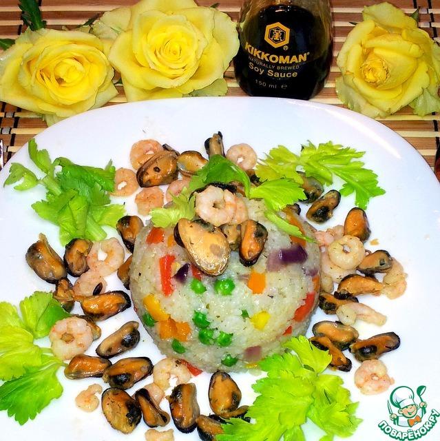 Рис с морепродуктами рецепт с фото пошагово как готовить #8