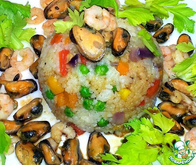 Рис с морепродуктами рецепт с фото пошагово как готовить #9