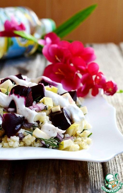 Как готовить Запечённая свекла с булгуром рецепт с фотографиями пошагово #8