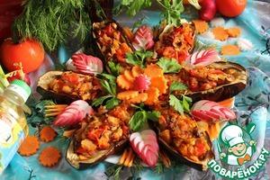 Рецепт Баклажаны с овощной начинкой