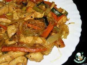 """Рецепт: Китайская стеклянная лапша с соусом """"Терияки"""""""