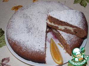 Рецепт Шоколадно-апельсиновый пирог с творогом