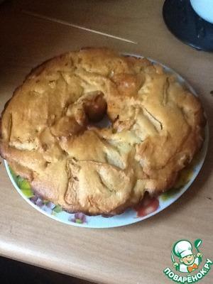Пирог с творогом и яблоками без муки вкусный рецепт приготовления с фотографиями как приготовить