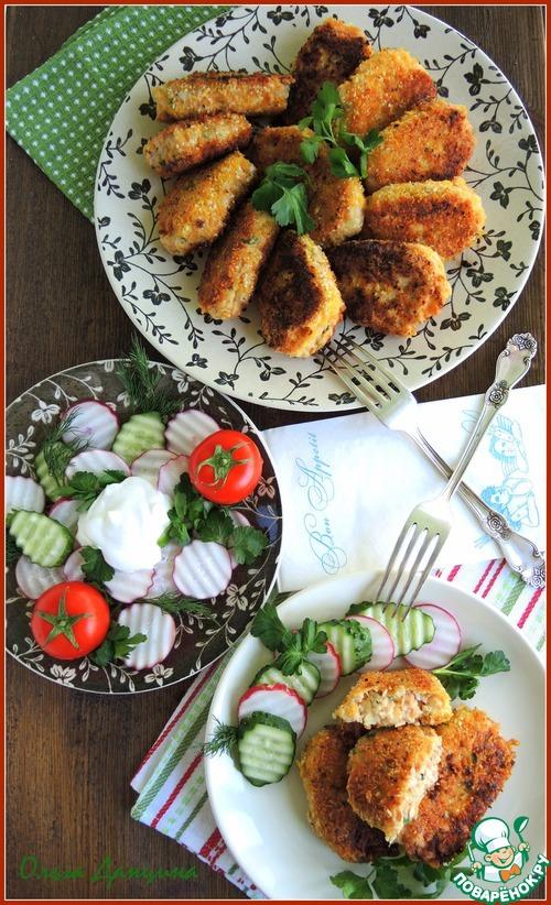 Рыбные котлеты в ореховой панировке простой рецепт с фото #7