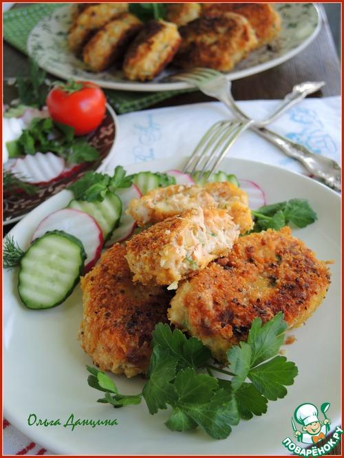 Рыбные котлеты в ореховой панировке простой рецепт с фото #8
