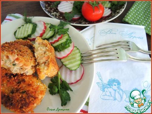 Рыбные котлеты в ореховой панировке простой рецепт с фото #10