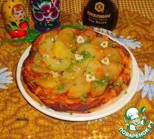 Рецепт Пицца с картофелем и чесноком