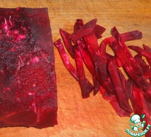 Готовим домашний рецепт с фото Закуска из свеклы и чеснока #1