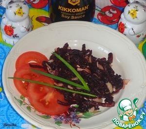 Рецепт Закуска из свеклы и чеснока