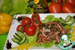 Рецепт Пикантная морская капуста с кальмаром