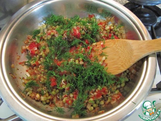 Рецепт приготовления с фотографиями Золотистый рис с паштетом из маша #7
