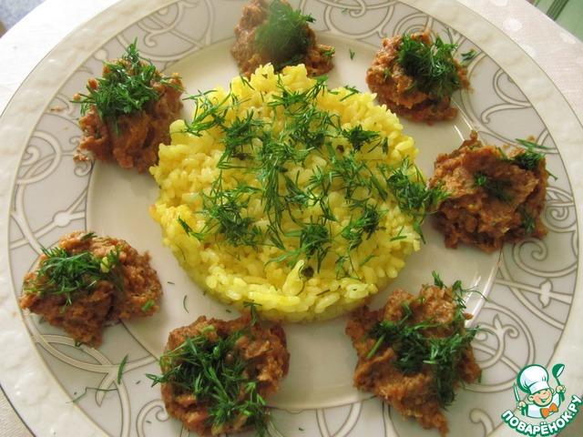 Рецепт приготовления с фотографиями Золотистый рис с паштетом из маша #8