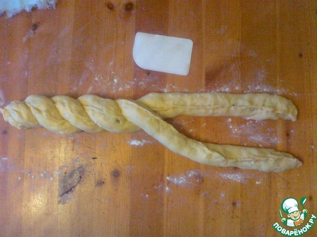 Готовим Сдобная коса на пшеничной закваске домашний рецепт с фото пошагово #13