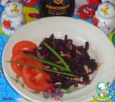 Готовим домашний рецепт с фото Закуска из свеклы и чеснока #5
