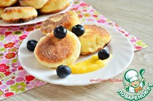 Рецепт Сырники с лимонным курдом