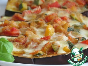 Рецепт Баклажанные лодочки с овощами и сыром