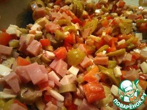 Как готовить Пикантный салат с копченым сыром вкусный рецепт с фото на Новый Год