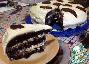 """Рецепт Шоколадный торт """"Муму"""" с творожным кремом диетический"""