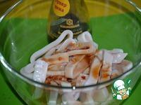 Необычные маринованные кольца кальмара ингредиенты