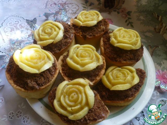 """Как приготовить вкусный рецепт с фото Пирожное """"Цветочный горшочек"""" #11"""
