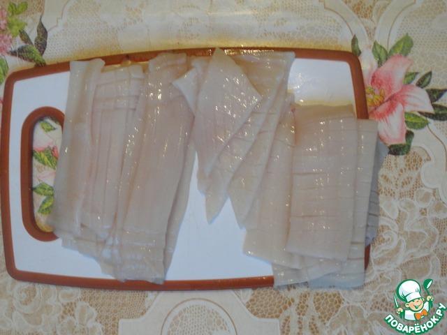 """Кальмары в соевом соусе """"Окинава"""" домашний рецепт с фото пошагово #4"""
