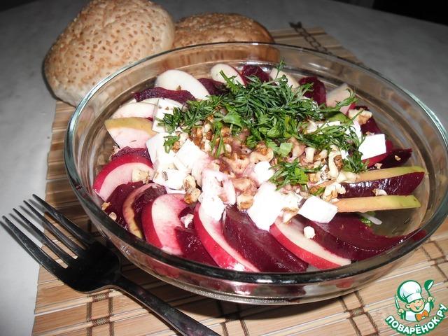 """Салат """"Свекольная рапсодия"""" рецепт приготовления с фото пошагово как приготовить #7"""