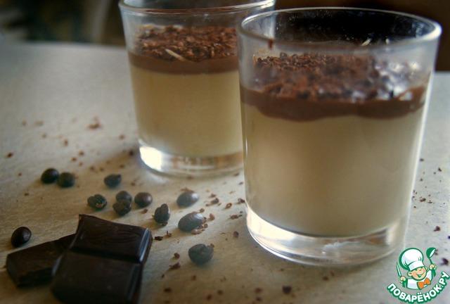 Панакота с натуральным кофе