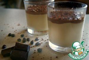 Рецепт Кофейная Панна-котта с какао