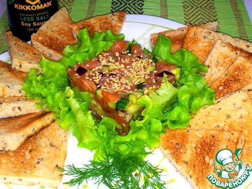 Как приготовить Тартар из лосося домашний рецепт с фотографиями пошагово #11