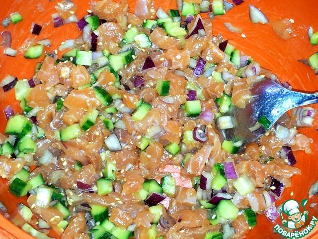 Как приготовить Тартар из лосося домашний рецепт с фотографиями пошагово #4