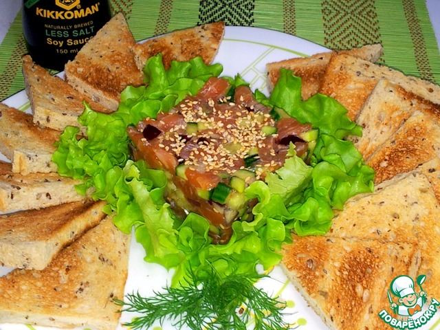 Как приготовить Тартар из лосося домашний рецепт с фотографиями пошагово #7