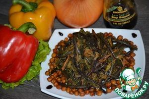 Как готовить простой рецепт приготовления с фотографиями Свежий папоротник с овощами и соевым соусом