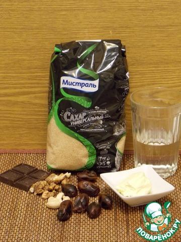 """Готовим домашний рецепт приготовления с фото """"Сырой"""" шоколадно-ореховый торт #1"""