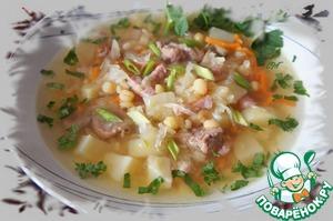 """Рецепт Гороховые щи с копченой свининой """"Полтавские"""""""