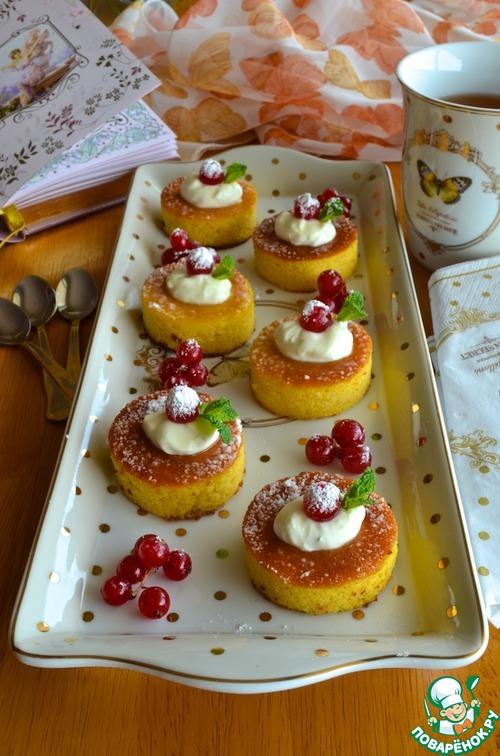 Апельсиново-миндальные пирожные
