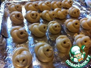 """Как приготовить Постные булочки """"Жаворонки"""" домашний пошаговый рецепт с фото #13"""