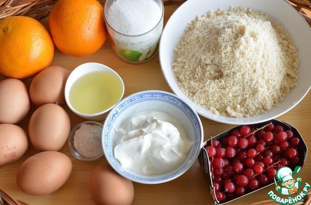Готовим простой рецепт с фото Апельсиново-миндальные пирожные #1