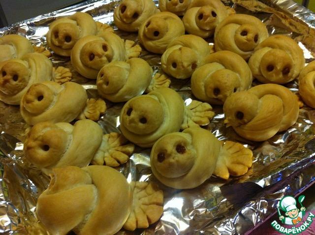 """Как приготовить Постные булочки """"Жаворонки"""" домашний пошаговый рецепт с фото #14"""