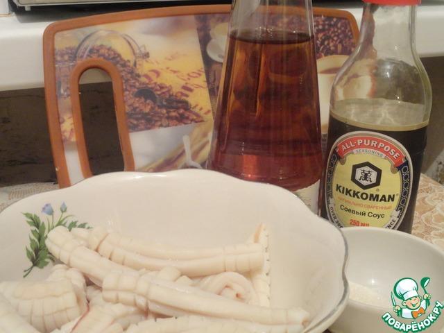 """Кальмары в соевом соусе """"Окинава"""" домашний рецепт с фото пошагово #6"""