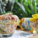 """Салат с маринованными морепродуктами """"Взморье"""""""