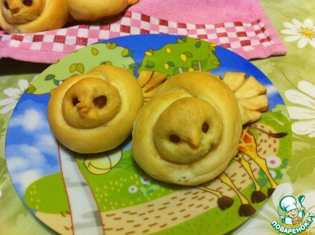 """Как приготовить Постные булочки """"Жаворонки"""" домашний пошаговый рецепт с фото #15"""