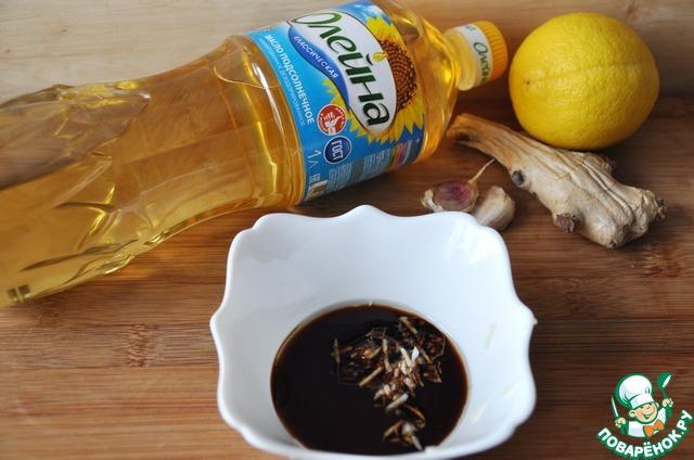 """Готовим простой рецепт с фотографиями Салат с маринованными морепродуктами """"Взморье"""" #3"""