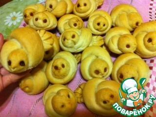 """Как приготовить Постные булочки """"Жаворонки"""" домашний пошаговый рецепт с фото #16"""