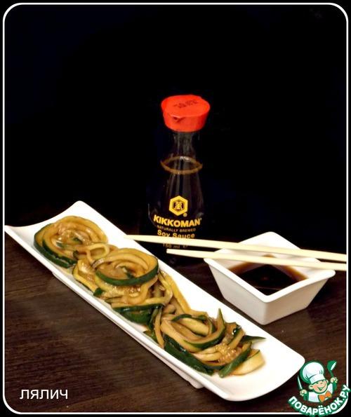 """Как приготовить Японский огуречный салат """"Суномоно"""" домашний рецепт с фотографиями пошагово #4"""