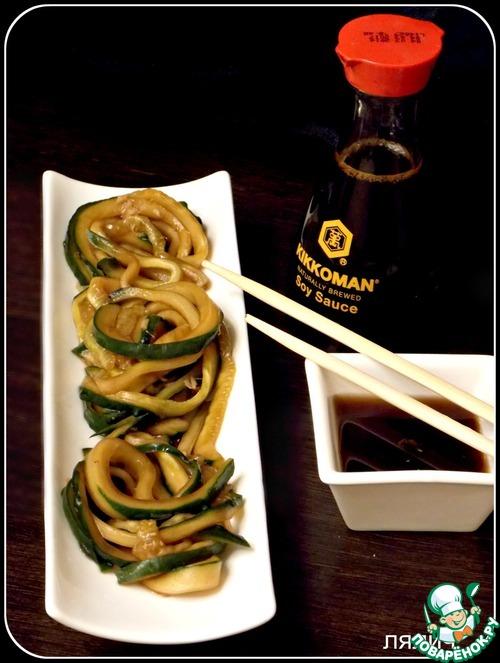 """Как приготовить Японский огуречный салат """"Суномоно"""" домашний рецепт с фотографиями пошагово #6"""